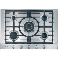 Miele Km2032 Gas Hob - Stainless Steel, Stainless Steel