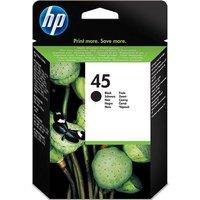 HP 45 Black Ink Cartridge, Black
