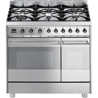 SMEG C92GPX8 90 cm Dual Fuel Range Cooker - Stainless Steel, Stainless Steel