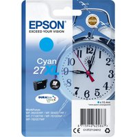 EPSON Alarm Clock 27XL Cyan Ink Cartridge, Cyan