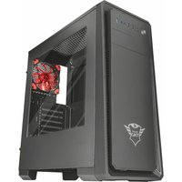 TRUST GXT 1110 ATX Mid-Tower PC Case, Red