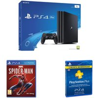 SONY PlayStation 4 Pro, Spider-Man & PlayStation Plus 3 Month Subscription Bundle
