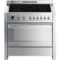 SMEG Opera A1PYID-7 90 cm Electric Induction Range Cooker - Stainless Steel, Stainless Steel