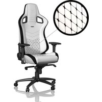 NOBLE CHAIRS Epic Gaming Chair - White and Black, White