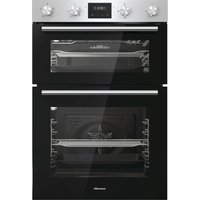 HISENSE BID95211XUK Electric Double Oven - Stainless Steel, Stainless Steel