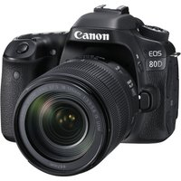 CANON EOS 80D DSLR Camera with 18-135 mm f/3.5-5.6 IS USM Zoom Lens - Black, Black