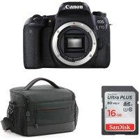 CANON EOS 77D DSLR Camera, Memory Card and Bag Bundle, Black