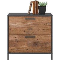 TEKNIK Boulevard Café 2 Drawer Filing Cabinet - Black & Oak, Black