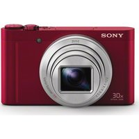 Sony Cyber-shot DSC-WX500R Superzoom Compact Camera - Red,