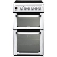 HOTPOINT HUE52PS 50 cm Electric Ceramic Cooker - White, White