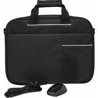 LOGIK L15BUN16 15.6 Laptop Case with Wireless Mouse & Screen Wipes - Black, Black