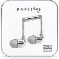 HAPPY PLUGS Headphones - Silver, Silver