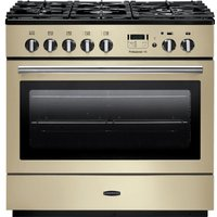RANGEMASTER Professional FX 90 Dual Fuel Range Cooker - Cream and Chrome, Cream