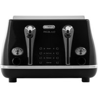 Buy DELONGHI Micalite CTOM4003 4-Slice Toaster - Black, Black - Currys PC World
