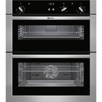 NEFF U17S32N5GB Built-under Double Oven - Stainless Steel, Stainless Steel