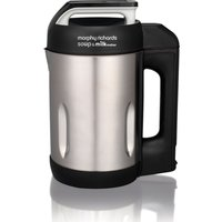 MORPHY RICHARDS 501000 Soup & Milk Maker - Stainless Steel, Stainless Steel