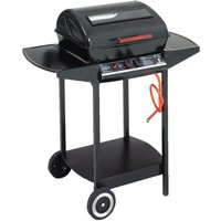 LANDMANN Grill Chef 12375 Dual Burner Grill Gas BBQ - Black, Black