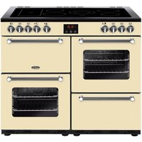 Click to view product details and reviews for Belling Kensington 100e Electric Ceramic Range Cooker Cream Chrome Cream.