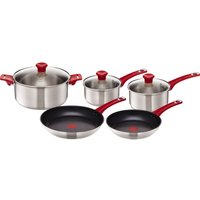 TEFAL H801S514 Jamie Oliver 5-piece Cookware Set - Red, Red
