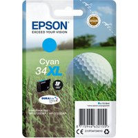 EPSON 34 Golf Ball XL Cyan Ink Cartridge, Cyan