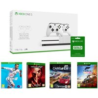 Microsoft Xbox One With Fifa 19, Forza Horizon 4, Tekken 7, Project Cars 2 & Live Gold Membership Bundle, Gold