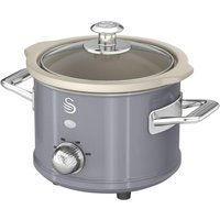 SWAN Retro SF17011GRN Slow Cooker - Grey, Grey