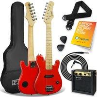 3RD AVENUE STX30 Junior Electric Guitar Bundle - Red, Red