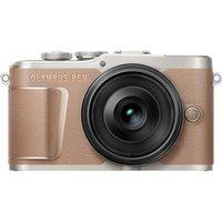 OLYMPUS PEN E-PL10 Mirrorless Camera with M.ZUIKO DIGITAL ED 14-42 mm f/3.5-5.6 EZ Lens - Brown, Brown