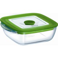 PYREX  23 x 15 cm Rectangular Dish with Lid - Clear