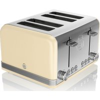 Buy SWAN Retro ST19020CN 4-Slice Toaster - Cream, Cream - Currys