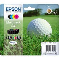 EPSON 34 Golf Ball Cyan, Magenta, Yellow & Black Ink Cartridges - Multipack, Cyan