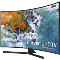49 Samsung Ue49nu7500 Smart 4k Ultra Hd Hdr Curved Led Tv, Gold
