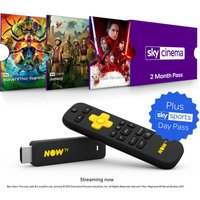 NOW TV Smart Stick with HD & Voice Search - 2 Month Sky Cinema Pass & 1 Day Sky Sports Pass