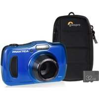 PRAKTICA Luxmedia WP240-BL Compact Camera with Case & SD Card - Blue, Blue