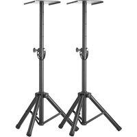 STAGG SMOS-20 SET Speaker Floorstand Pair - Black, Black