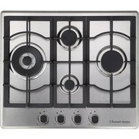 RUSSELL HOBBS RH60GH403SS Gas Hob - Stainless Steel, Stainless Steel