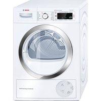 BOSCH WTW87560GB Heat Pump Condenser Tumble Dryer - White, White