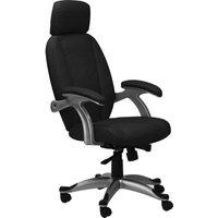 ALPHASON Bentley AOC6355-L-BLK Leather Tilting Executive Chair - Black, Black
