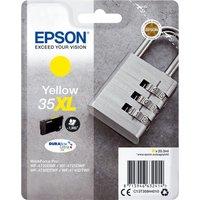EPSON 35 Padlock XL Yellow Ink Cartridge, Yellow