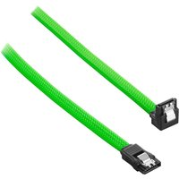 CABLEMOD ModMesh 30 cm Right Angle SATA 3 Cable - Light Green, Green