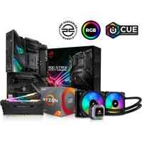 PC SPECIALIST AMD Ryzen 7 X Processor, ROG STRIX Motherboard, 16 GB RAM & Corsair RGB Cooler Components Bundle