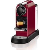 NESPRESSO by Krups CitiZ Coffee Machine - Red, Red
