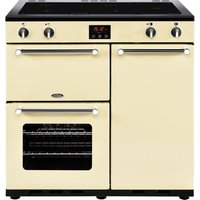 BELLING Kensington 90 cm Electric Induction Range Cooker - Cream and Chrome, Cream