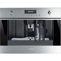 SMEG CMS6451X Built-in Bean-to-Cup Coffee Machine - Stainless Steel and Black Glass, Stainless Steel