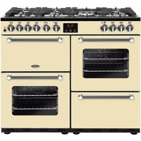 Click to view product details and reviews for Belling Kensington 100dft Dual Fuel Range Cooker Cream Chrome Cream.