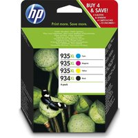 HP 934XL/935XL Cyan, Magenta, Yellow & Black Ink Cartridges, Cyan