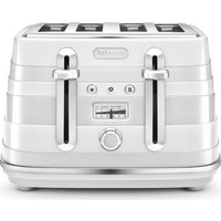 Buy DELONGHI Avvolta CTA4003.W 4-Slice Toaster - White, White - Currys PC World
