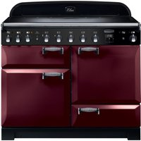 RANGEMASTER Elan Deluxe ELA110EICY 110 cm Electric Induction Range Cooker - Cranberry and Chrome, Cranberry