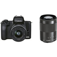 CANON EOS M50 Mark II Mirrorless Camera with EF-M 15-45 mm f/3.5-6.3 IS STM & 55-200 mm f/4.5-6.3 IS STM Lens