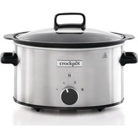 CROCK-POT Sizzle & Stew CSC085 Slow Cooker - Silver Stainless Steel, Stainless Steel